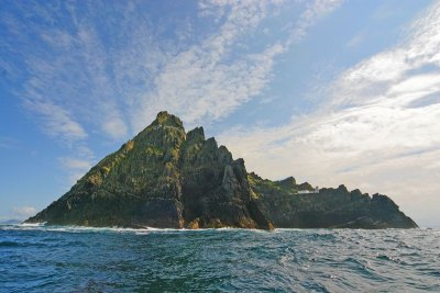 skellig michael from sea