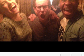 JJ - An awesome social picture of John Boyega, Daisy Ridley, and J.J. Abrams from Instagram!