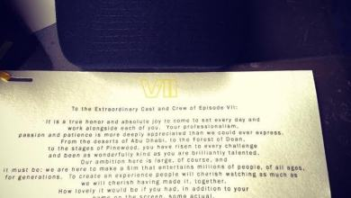 Photo of A note given to crew members of Star Wars: Episode VII on their last day!