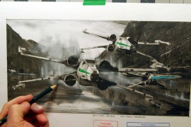Xwing Official 2 - 3 X-wing Fighter Sketches from official Disney artist based on Star Wars: The Force Awakens!
