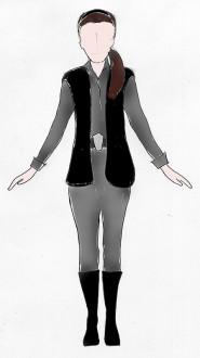 Princess Leia Costume Sketch