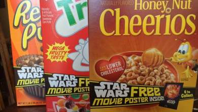 General Mills Cereal has all 6 Drew Struzan Star Wars posters inside for May 4th and new Star Wars Cereal!