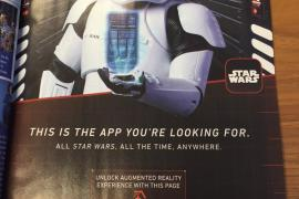 Star Wars APP - Star Wars: The Force Awakens' First Order Stormtrooper in Magazine Ad!