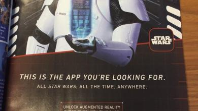Photo of Star Wars: The Force Awakens' First Order Stormtrooper in Magazine Ad!