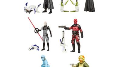 Photo of PZ-4C0, Goss Toowers, Guavian Bodyuard, & General Hux Star Wars: The Force Awakens figures and designs!