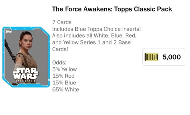 Rey Topps Card Pack Prive