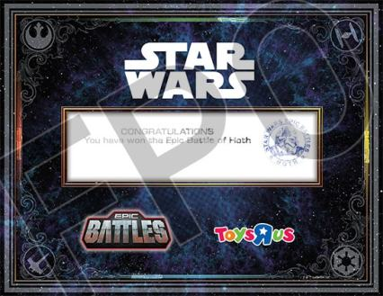 Battle of Hoth Certificate