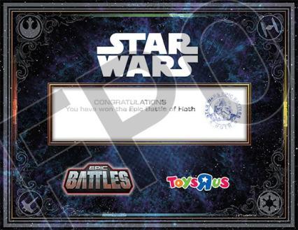 Battle of Hoth Certificate