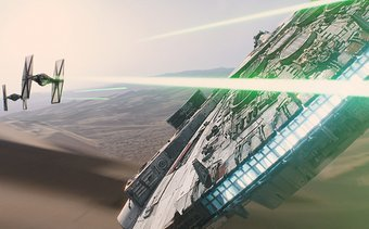 Photo of EW Star Wars: The Force Awakens Behind-the-Scenes of the Millennium Falcon