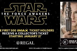 image 2 - Star Wars: The Force Awakens Week 3 Regal IMAX Ticket Stub Features Rey!