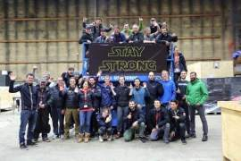 Stunt Team - Rogue One: A Star Wars Story stunt team supports injured stunt person