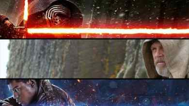 Photo of Luke Skywalker featured on a banner promoting Star Wars: The Force Awakens on Blu-Ray!