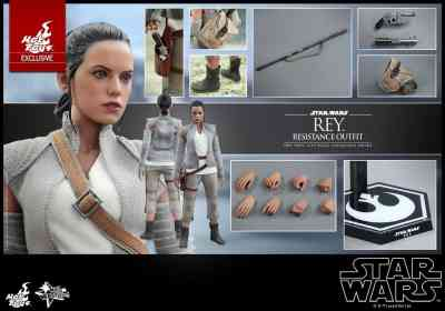 """Hot Toys reveals Rey (Resistance outfit) 12"""" figure from Star Wars: The Force Awakens!"""