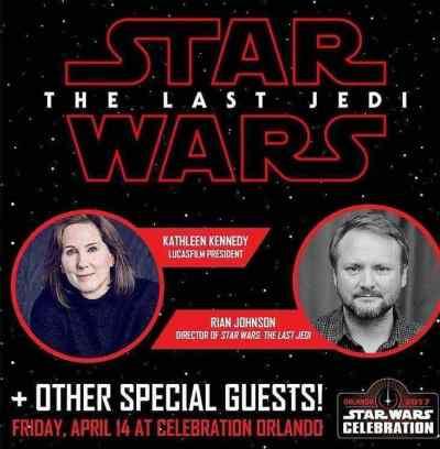 Star Wars: The Last Jedi Celebration Orlando panel set for April 14th