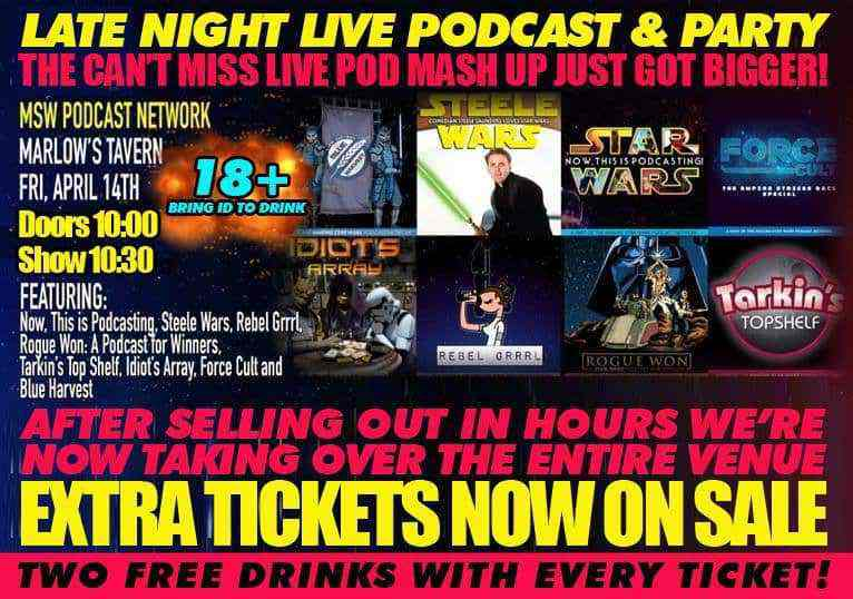 FLYER2 - Get tickets for The MSW Podcast Network live podcast party! Now 18+!