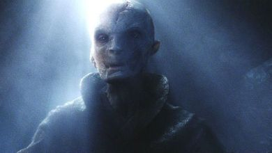 Photo of Supreme Leader Snoke's Pretty Blue Eyes in Star Wars: The Last Jedi!
