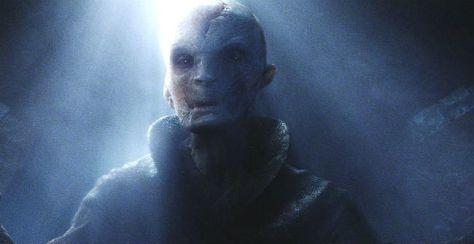 Supreme Leader Snoke's Pretty Blue Eyes in Star Wars: The Last Jedi!