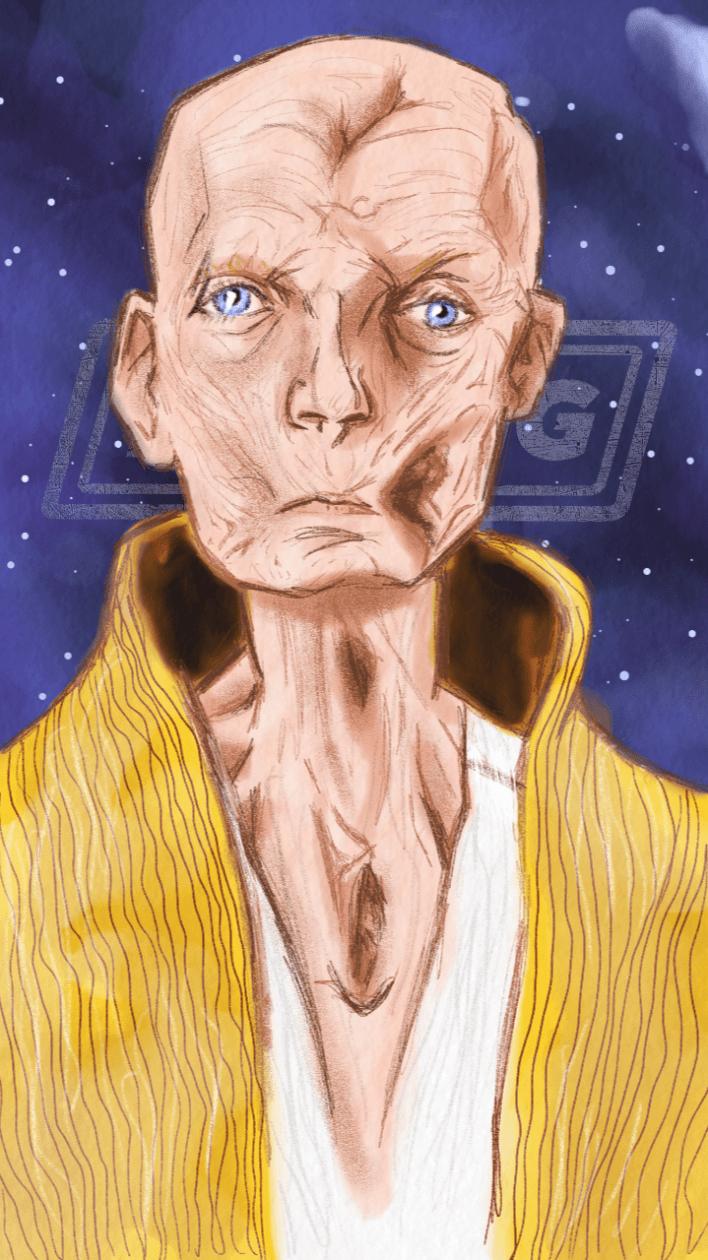 IMG 7309 - Supreme Leader Snoke's Pretty Blue Eyes in Star Wars: The Last Jedi!