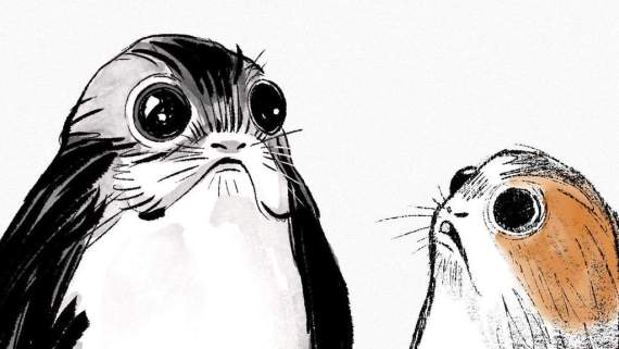 d23 porgs sketch the last jedi tall - StarWars.com Confirms Porgs in Star Wars: The Last Jedi