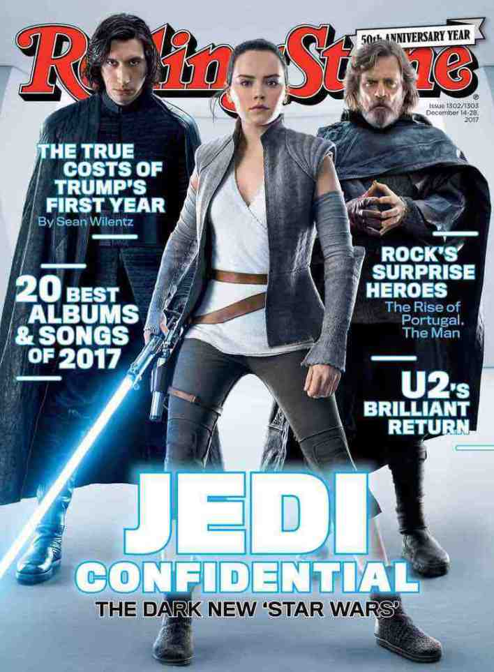 Rolling Stone shares its Star Wars: The Last Jedi cover!