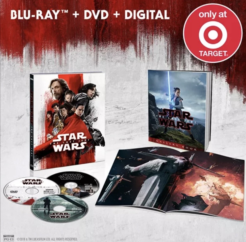 Star Wars: The Last Jedi retail exclusive Blu-ray covers!