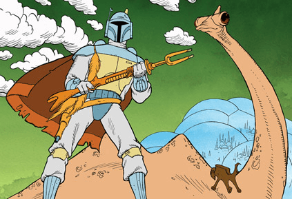 Star Wars: The Mandalorian's weapon is the animated Boba Fett Holiday Special riffle brought to live action!