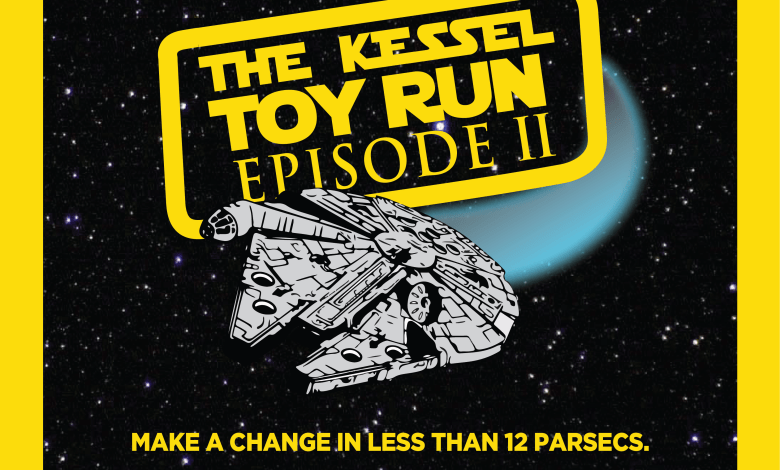 """Photo of """"The Kessel Toy Run"""" is back! Star Wars fans we need your help this year. Donate unopened Star Wars toys for hospitalized children!"""