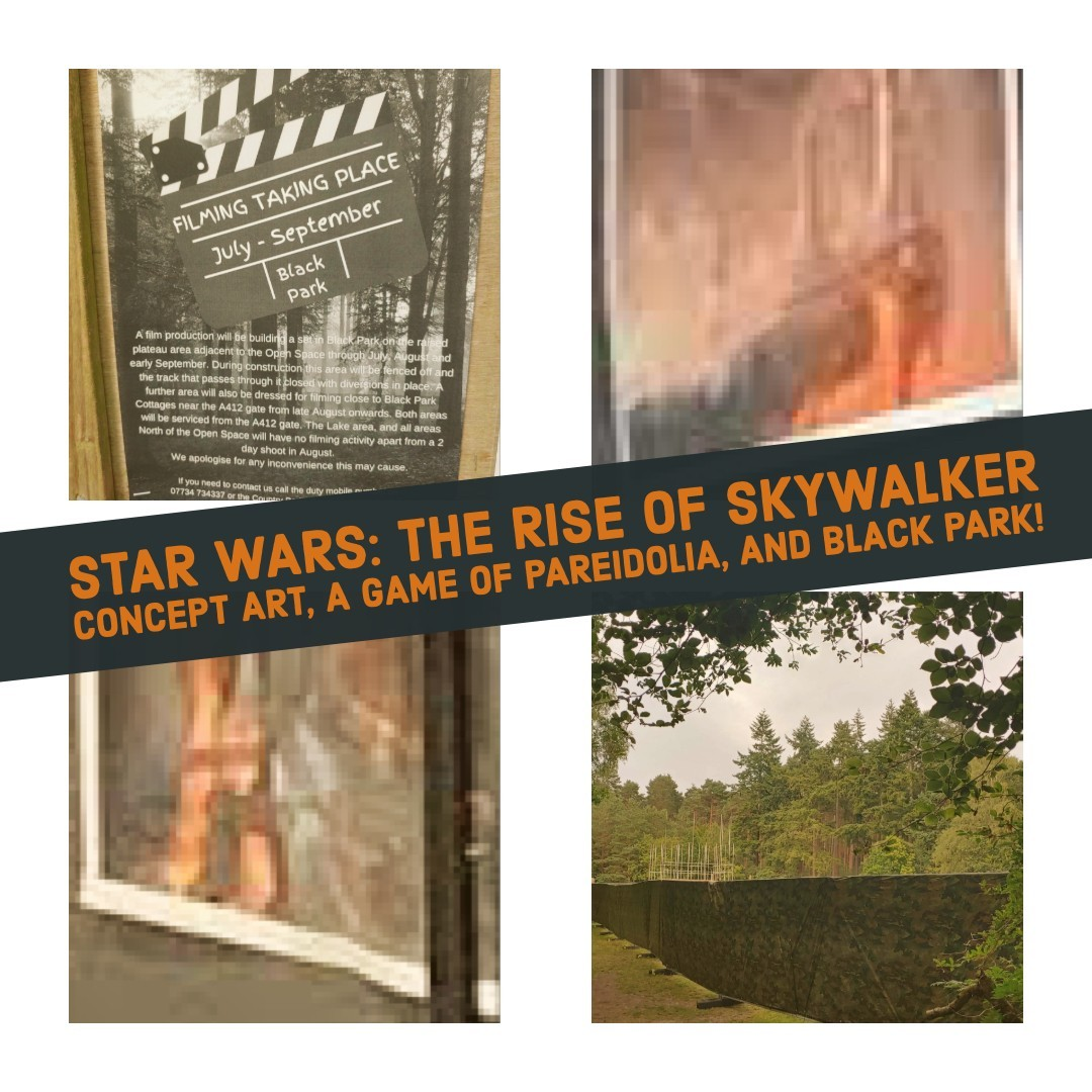 Star Wars The Rise Of Skywalker Concept Art A Game Of Pareidolia And Black Park Making Star Wars