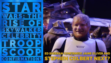 Photo of The Celebrity Trooper Scoop 1/3 confirmed with Ed Sheeran in Star Wars: The Rise of Skywalker!