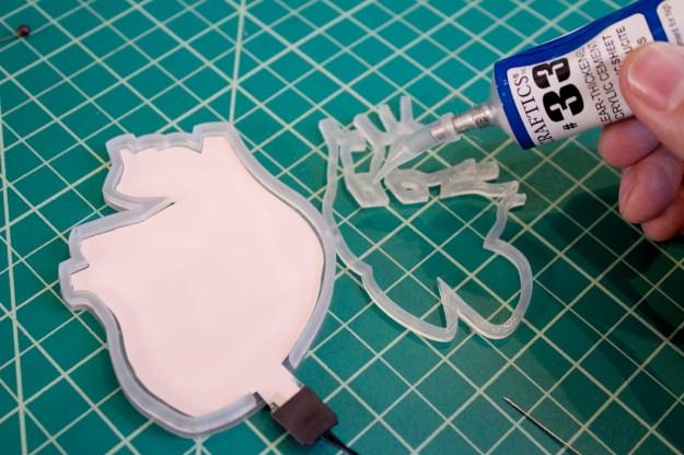 Heart Jacket Process 04 - Glue