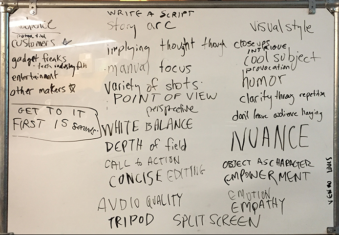 Video Notes : from class