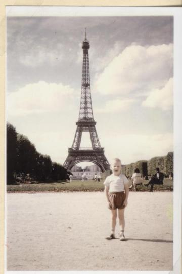 Me in 1966 on the Champs de Mars