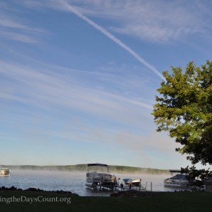 fog on Lake Margrethe - my second shot - Nikon