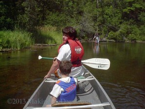 canoeing with W and cousin John