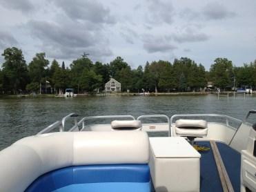 bringing the pontoon home