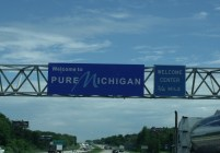 the sign says it all, Pure Michigan