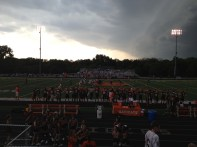 the clouds roll in