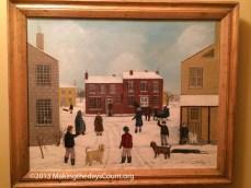 old folk art paintings fill grandma's home