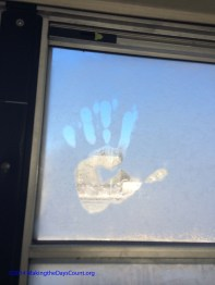 my frosty handprint