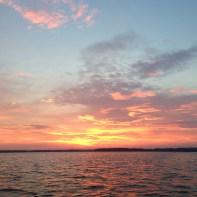 summer's first sunset - W's photo