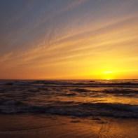 sunset, Lake Michigan - eastern shore, June 8, 2014