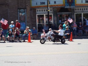 Shriners on motorbikes