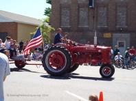 a vintage tractor