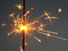 a sparkler from the campfire the night before