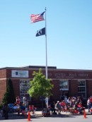 Old Glory flying in the breeze
