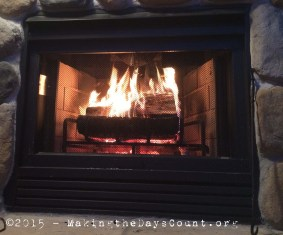 Warmth - the fire at the cottage