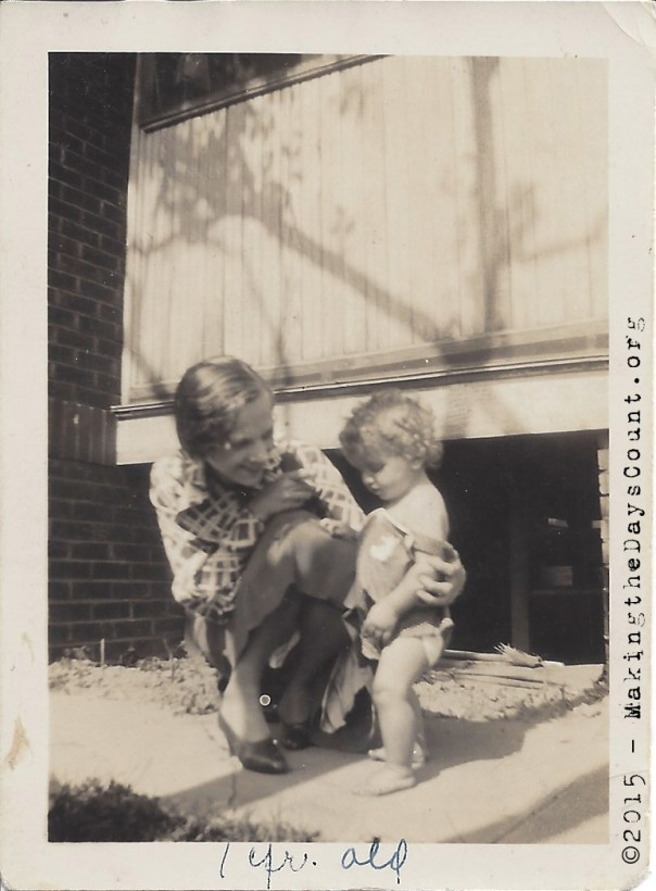 My dad and his mom - one year old - May 1934
