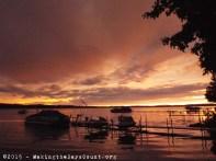 Sunday night's coppery sunset - beautiful