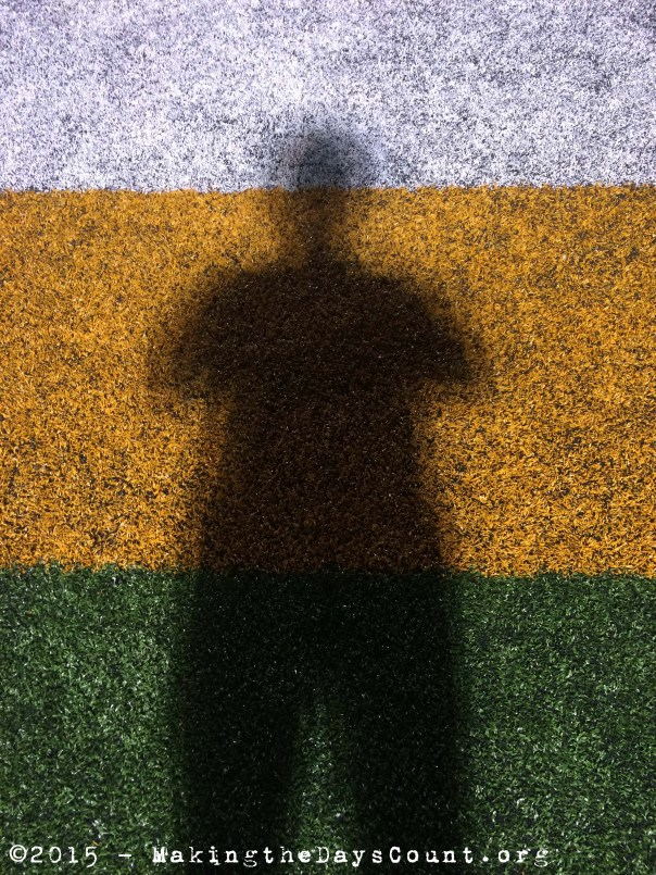 my shadow cast upon the sidelines