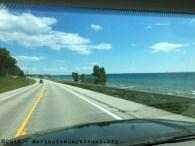 east along the great inland sea, Lake Michigan